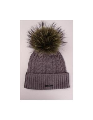 Bklyn Hats Cable Knit HAT ONLY Colour: Cappucino