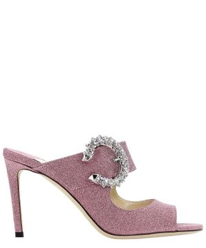 JIMMY CHOO WOMEN'S SAF85XGSPINK PINK Fabric SANDALS