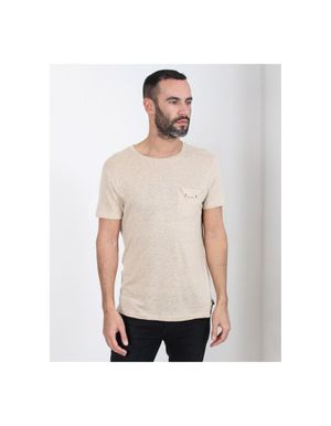 Sseinse Knitted Pocket T-Shirt Colour: Beige