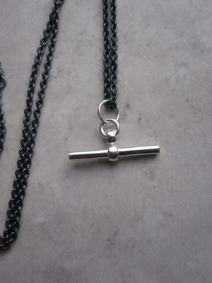 T-bar chain necklace - silver