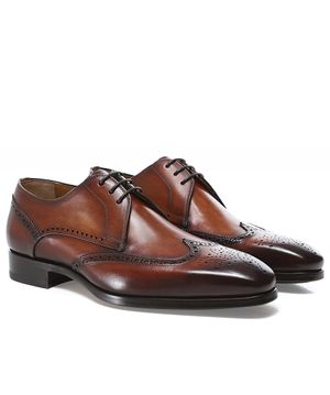 Magnanni Leather Derby Brogues Colour: Brown