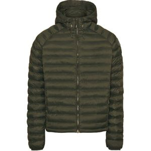 KnowledgeCotton Apparel Eco Active Thermore Hood Jacket Green - Vegan