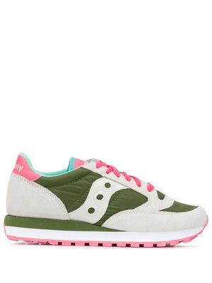 SAUCONY WOMEN'S 1044W566 GREEN LEATHER SNEAKERS