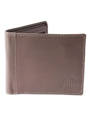 Souled Out Accent Logo Leather Zip Wallet Colour: Brown