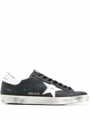 GOLDEN GOOSE MEN'S GMF00101F00032180203 BLACK LEATHER SNEAKERS