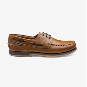 loake waxy boat shoes , Colour:TAN