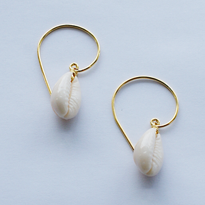Gold Plated Cowrie Earrings