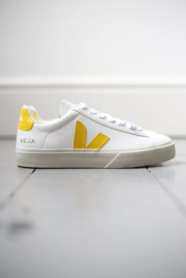 Veja Campo White & Yellow Leather Sneakers