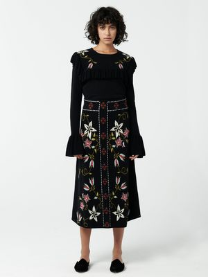 Hayley Menzies Siouxsie Jacquard Midi Skirt