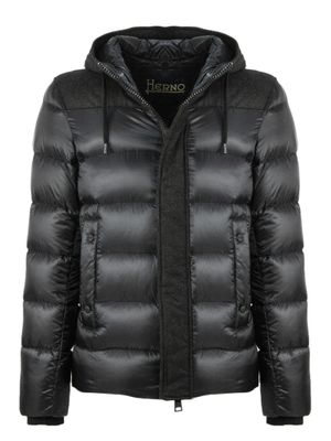 Herno Down-Feather Hooded Jacket Black