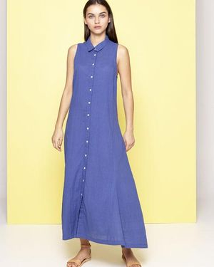 Safari Dress Blue