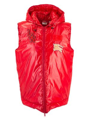 BURBERRY WOMEN'S 8021967 RED POLYAMIDE VEST