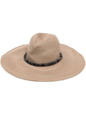 BRUNELLO CUCINELLI WOMEN'S MCAP90126CG149 BEIGE CANVAS HAT