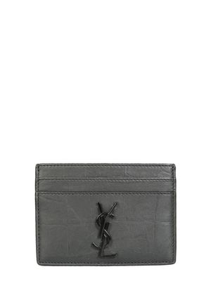 Saint Laurent Paris CARD HOLDER WITH LOGO