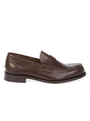 CHURCH'S MEN'S PEMBREYPRESTIGEBROWN BROWN LEATHER LOAFERS