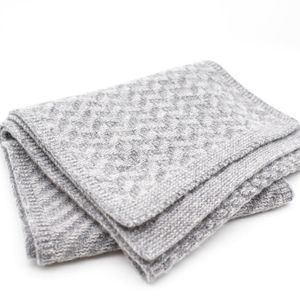 Ryan James Bedford Lambswool Scarf Grey