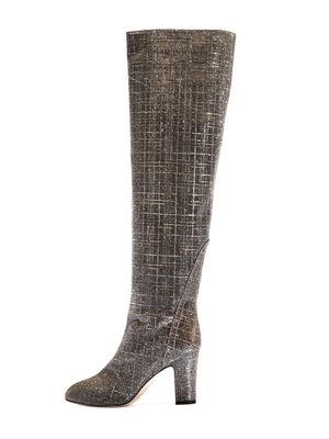 High Boot Silver/Gold