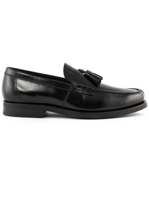 TOD'S MEN'S XXM0ZF0CP60LYGB999 BLACK LEATHER LOAFERS