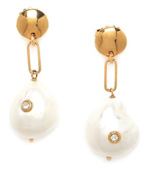 Franck Herval Constance round top post earrings