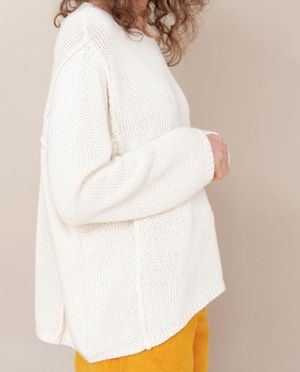 SS20 Alessandra-Jane Organic Cotton Jumper In Off White