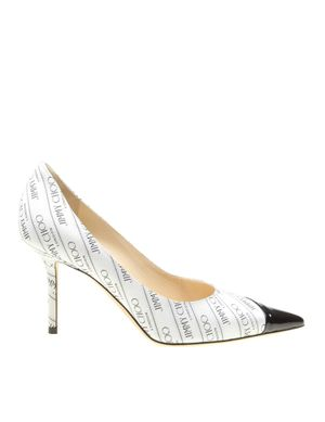 JIMMY CHOO WOMEN'S LOVE85JQKWHITE WHITE LEATHER PUMPS