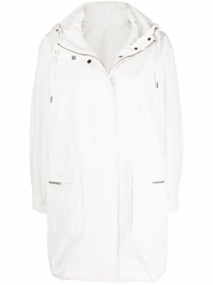 BRUNELLO CUCINELLI WOMEN'S MB5749600C1550 WHITE COTTON OUTERWEAR JACKET