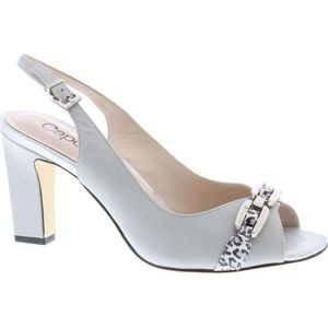 Carmen Grey Peep Toe Shoe