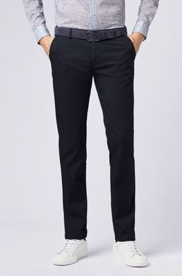 Hugo Boss - RICE3-D Navy Blue Slim-fit Chinos in Stretch Cotton 50325936