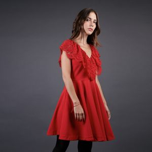 FRNCH Red Lace Dress