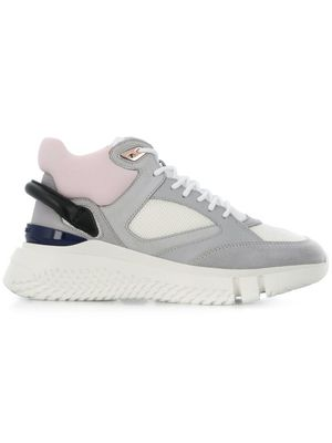 BUSCEMI WOMEN'S 419SW008VT01SN9490 GREY LEATHER SNEAKERS