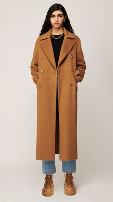 Nanushka Lana Coat Light Brown