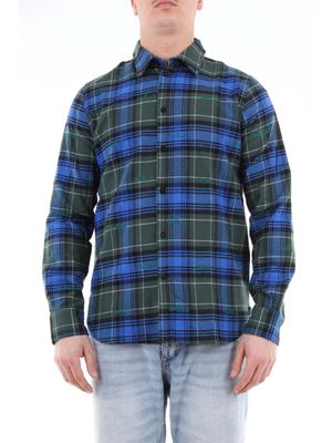 Gaelle multicolor checked shirt with stitched logo