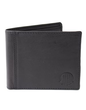 Souled Out Accent Logo Leather Zip Wallet Colour: Black