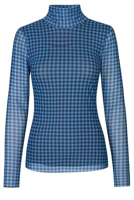 Jodi Top - Blue Gingham SUSTAINABLE