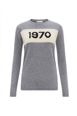 Bella Freud 1970 Cashmere Jumper Grey Marl