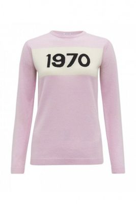Bella Freud Pale Pink 1970 Cashmere Jumper