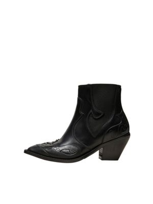 Selected Femme Sweets Cowboy Boots (Black )