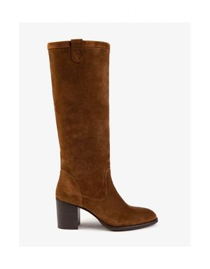 Penelope Chilvers Stevie Suede Knee High Boot Colour: Peat