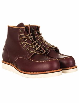 "Red Wing 8856 Heritage Work 6"" Moc Toe Boot - Oxblood Mesa  Colour: Ox"