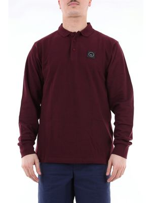 Marshall artist long sleeve polo shirt in cotton