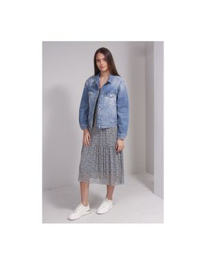 Replay Tucked Back denim Jacket Colour: Blue Denim