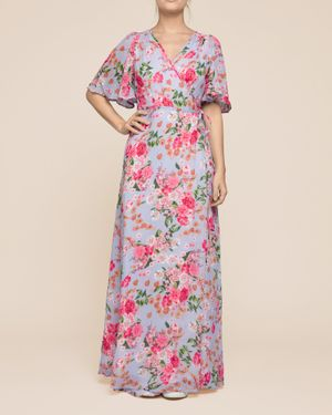By Timo Floral Semi Wrap Maxi Dress