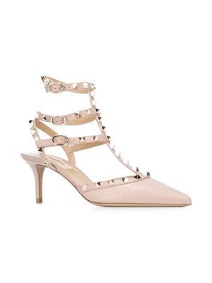 VALENTINO GARAVANI WOMEN'S UW2S0375VCEP45 PINK LEATHER SANDALS