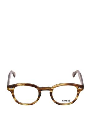 MOSCOT WOMEN'S LEMTOSHVBAMBOO BROWN ACETATE GLASSES