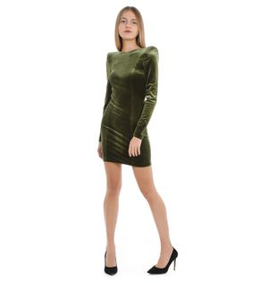 ACTUALEE WOMEN'S AB00374851651629OLIO GREEN OTHER MATERIALS DRESS