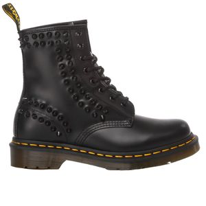 DR. MARTENS WOMEN'S MI601 BLACK LEATHER ANKLE BOOTS