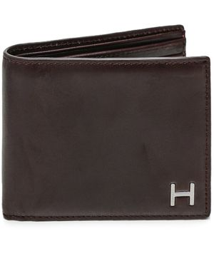 Hackett Leather H Billfold Wallet Colour: Brown
