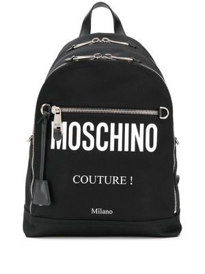 MOSCHINO MEN'S A760682012555 BLACK POLYAMIDE BACKPACK