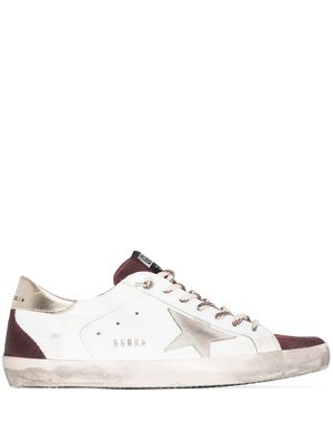 GOLDEN GOOSE MEN'S GMF00102F00061080503 WHITE LEATHER SNEAKERS