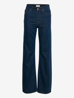 Gestuz High Waisted Flare Jeans Blue